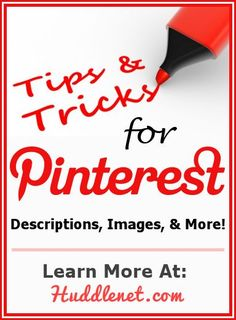 10 DETAILED Pinterest Tips and Tricks that will help with your pin descriptions, images, creating a brand, buttons and more! | #PinterestHelp #PinterestTips | Huddlenet.com