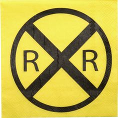 Train Party - Railroad Crossing Train Party Beverage Napkins (16 ct), $2.19 (http://www.trainparty.com/products/railroad-crossing-train-party-beverage-napkins-16-ct.html)