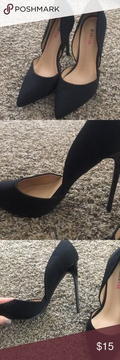 JustFab Black stilettos Only worn one time. Great condition. JustFab Shoes Heels