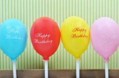 balloon cupcake toppers $3.50