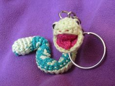 serpiente articulada ideal para llavero #crpchet #llavero #amigurumi