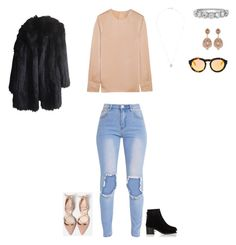 """""""Untitled #95"""" by selise-miles on Polyvore featuring Elizabeth and James, rag & bone, Carolee and Sonia Rykiel"""