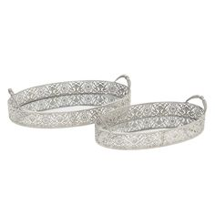 Unique Trays come in every kind of shape and size, colour and material and can be used for a range of purposes from displaying food and drink. Mirror Tray, Metal Mirror, Kinds Of Shapes, Silver Color, Bracelets, Jewelry, Trays, Wedding Decorations, Glamour