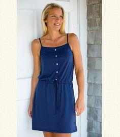 Women's Wool Henley Dress - Sleeveless | Made in America