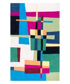 Look at this #zulilyfind! Multicolor Geometric Caryn Rug by nuLOOM #zulilyfinds