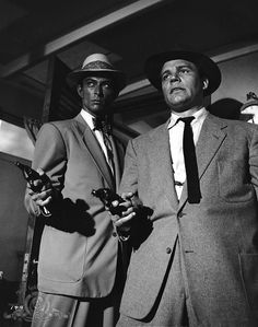 Lee Van Cleef and Neville Brand in Kansas City Confidential.