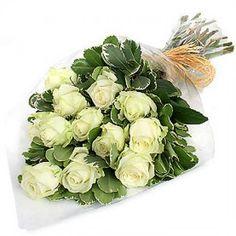 Bouquet of Dozen Virgin Roses to Saint-Pierre-and-Miquelon