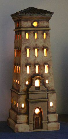 Clay Tower sculpture by Harry Tanner