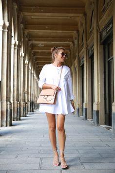 Bartabac - white dress + chloe bag +mango sandals