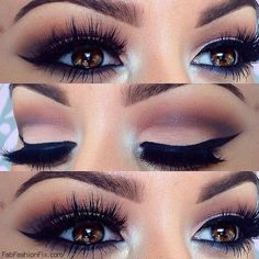 Beauty How to create bold wing eye make-up look? ❤ liked on Polyvore featuring beauty products, makeup, eye makeup, eyes and winged eye makeup