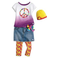 American Girl® Clothing: Peace Petals Outfit for Girls