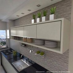 43 trendy home decored modern simple Modern Kitchen Cabinets, Kitchen Furniture, New Kitchen, Kitchen Decor, Kitchen Rack, Minimalist Kitchen, Trendy Home, Easy Home Decor, Küchen Design