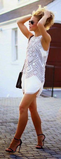 Luv to Look | Curating Fashion & Style: Street style white summer dress