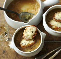 French onion soup is very easy to make - and cheesy croutons make it extra special!