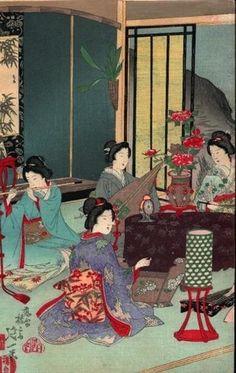 Chikanobu Toyohara (1838-1912). Estampas japonesas.