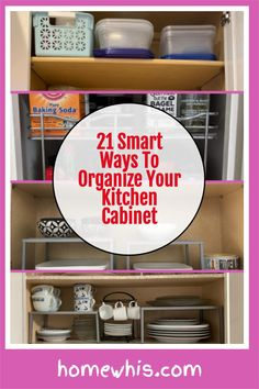 Low on kitchen cabinets storage space? Have trouble finding what you need? Here are 21 organization ideas that'll keep your cabinet clutter free and looking organized. If you love to cook, then you'll surely find these tips useful.Start organizing your upper and lower cabinets now with these 15 organization ideas! #homewhis #cabinetorganization #homeorganization #pantryorganization #spiceorganization #declutter Small Kitchen Organization, Kitchen Cabinet Storage, Low Cabinet, Kitchen Cabinet Organization, Closet Organization, Organization Ideas, Organizing, Kitchen Cabinets, Braided Rag Rugs