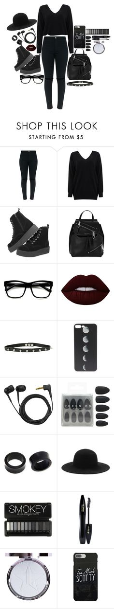 """""""Nobody wants a lonely Christmas"""" by twocigarettes ❤ liked on Polyvore featuring Cocoa Cashmere, T.U.K., Marc Jacobs, ZeroUV, Lime Crime, Hot Topic, Sennheiser, Forever 21, NOVICA and rag & bone"""