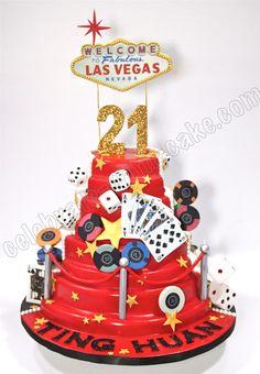 21st Vegas Cake