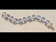 ▶ Squares and Crosses bracelet Beading video tutorial by Ezeebeady - YouTube