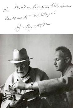 Henri Matisse and Henri Cartier-Bresson, 1944 -by Hélène Adant