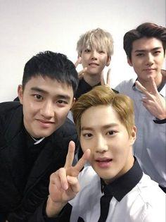D.O, Baekhyun, Suho and Sehun//EXO