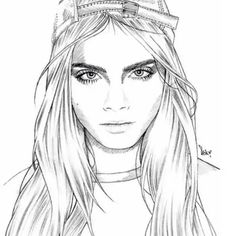 Fashion sketches faces
