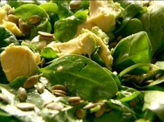Baby Spinach, Avocado, and Pumpkin Seed Salad Recipe : Nigella Lawson : Food Network - yummy salad!