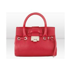 Jimmy Choo Jimmy Choo Rosalie S Small Top Handle Handbag in Red Soft... ($1,450) ❤ liked on Polyvore