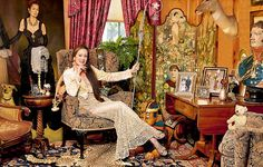 Link to the past: Actress Lorraine Chase reclines at home amid her favourite possessions