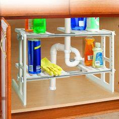 Under Sink #organizing Shelves
