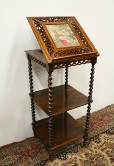 Mid Victorian Rosewood Whatnot/Music Stand (c. 1860	 United Kingdom)