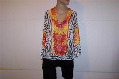 ALFANI Shirt Blouse 8 Cowl Neck Colorful Floral Sheer 3/4 Sleeves Womens #Alfani #Blouse #Casual