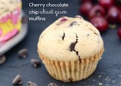 Cherry Chocolate Chip Wheat Germ Muffins