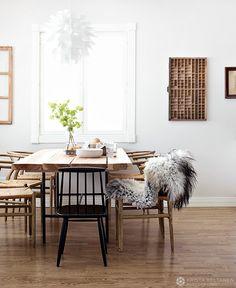 Скандинавский столовая, рычаг стулья, фото Криста Keltanen