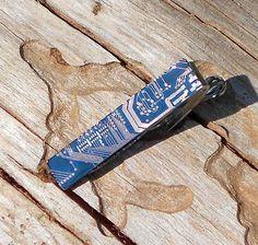 Blue Circuit Tie Bar