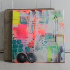 Akryl maleri af Mette Lindberg. www.mettesmaleri.dk