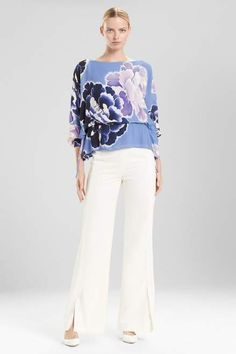1d05770eccf Buy Josie Natori Peony Poet Sleeve Top from Josie Natori at The Natori  Company