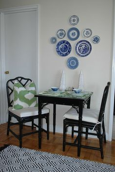 Not A Plate On The Wall Kind Of Girl. But I Love How In This. Bistro Table  SetSunroom IdeasMexican ...