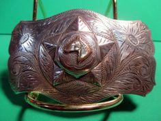 Antique SOLID STERLING SILVER & 14K GOLD Law Man Badge Belt Buckle MAKE OFFER We are OLDWEST on eBay and have over 1200 buckles for sale! You can e-mail us at saddlerestoration@hotmail.com