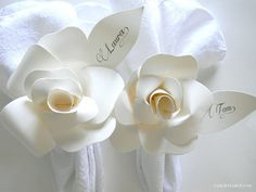 Personalize Your Own  Napkin Ring Set of 2 by FancifulDesign, $28.00