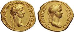 NumisBids: Nomisma Spa Auction 50, Lot 22 : ROMA IMPERO Claudio e Agrippina (41-54) Aureo – Testa laureata a d....