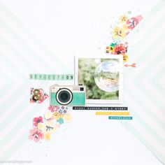 Reflection - with process video by Veera #scrapbooking