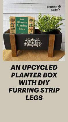 Planter Boxes, Diy Planters, Rectangular Planter Box, Wreaths For Sale, Recycled Furniture, Deck Furniture, Furniture Ideas, Diy Crafts Hacks, Porch Decorating