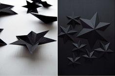 Schwarze-Sterne Weihnachten-Winterdeko Ideen-Karton
