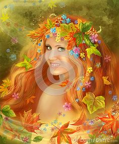 Fantasy Beautiful Fairy Woman Autumn - Download From Over 33 Million High Quality Stock Photos, Images, Vectors. Sign up for FREE today. Image: 27126598