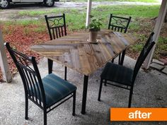 Patio Table Makeover Shattered glass Redo My projects