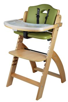 Folding Baby Chair High Chair for Baby Adjustable Height with Safety Belt and Adjustable Tray