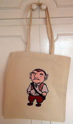 SALE Longhandled Labyrinth Character Shopper Bag  by geekvintageuk, £3.99