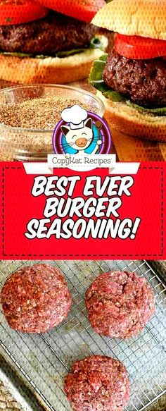 Give your hamburgers the best flavor with this easy homemade burger seasoning recipe. Plus get tips on how to cook the perfect grilled burgers. recipes beef seasoning The Best Homemade Burger Seasoning Best Homemade Burgers, Best Burger Recipe, Homemade Hamburgers, Grilled Hamburgers, How To Grill Hamburgers, Best Ever Hamburger Recipe, Easy Homemade Burger Recipe, Perfect Hamburger, Hamburger Spices