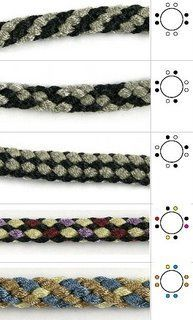 8 strand kumihimo patterns by color placement Kumihimo Bracelet, Bracelet Fil, Friendship Bracelet Patterns, Friendship Bracelets, Micro Macramé, Bijoux Diy, Bead Crochet, Crochet Rope, Crochet Necklace